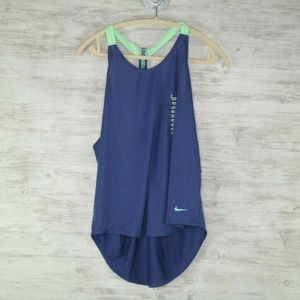 Nike Elastika Training Tank Womens L Royal Blue